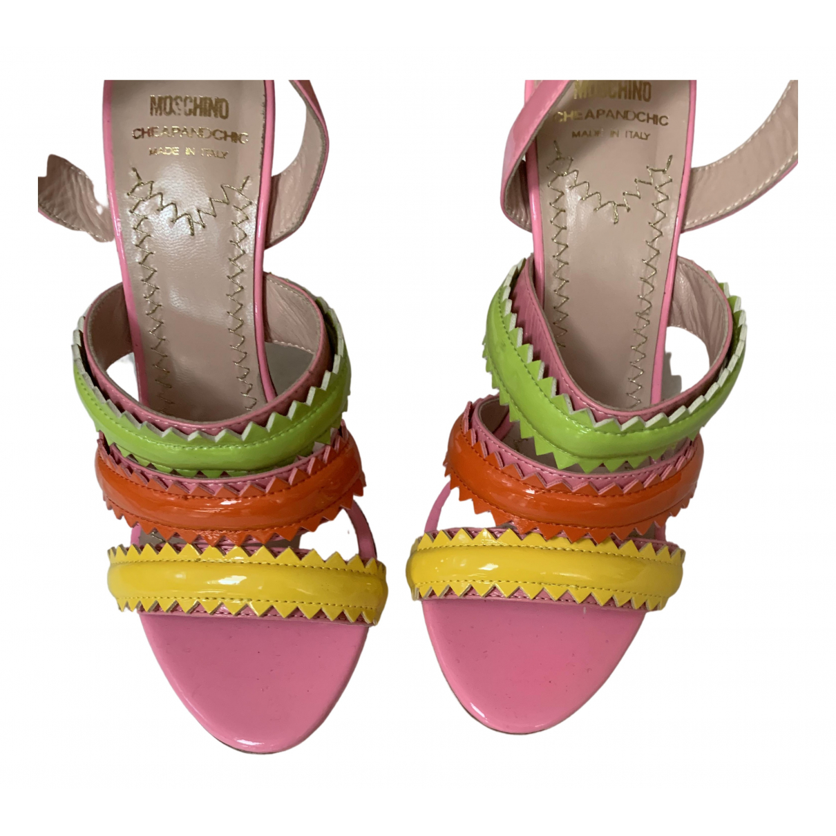 Moschino Cheap And Chic - Sandales   pour femme en cuir - multicolore