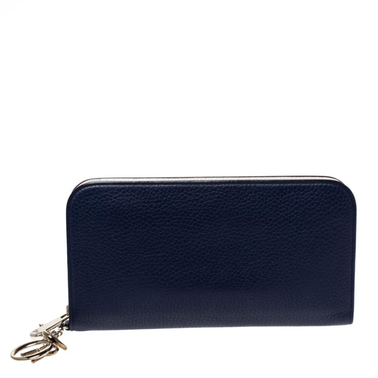 Dior Diorissimo Portemonnaie in  Blau Leder