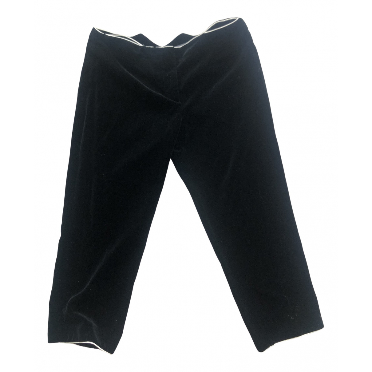 Alexander Mcqueen \N Black Cotton Trousers for Women 40 IT