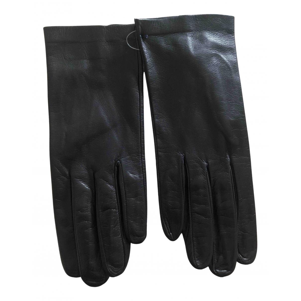 Sermoneta Gloves \N Handschuhe in  Blau Leder