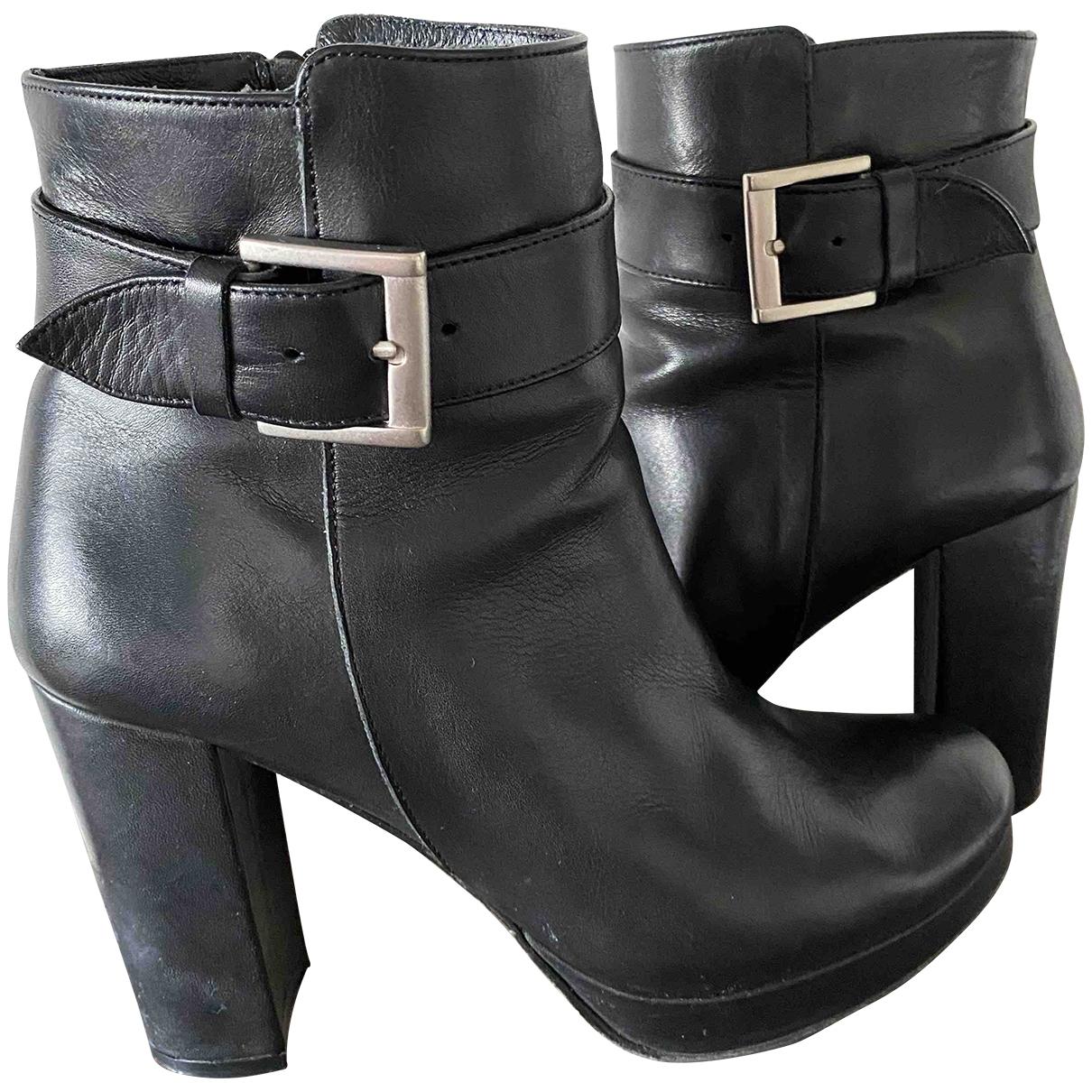 Fabienne Chapot - Boots   pour femme en cuir - noir