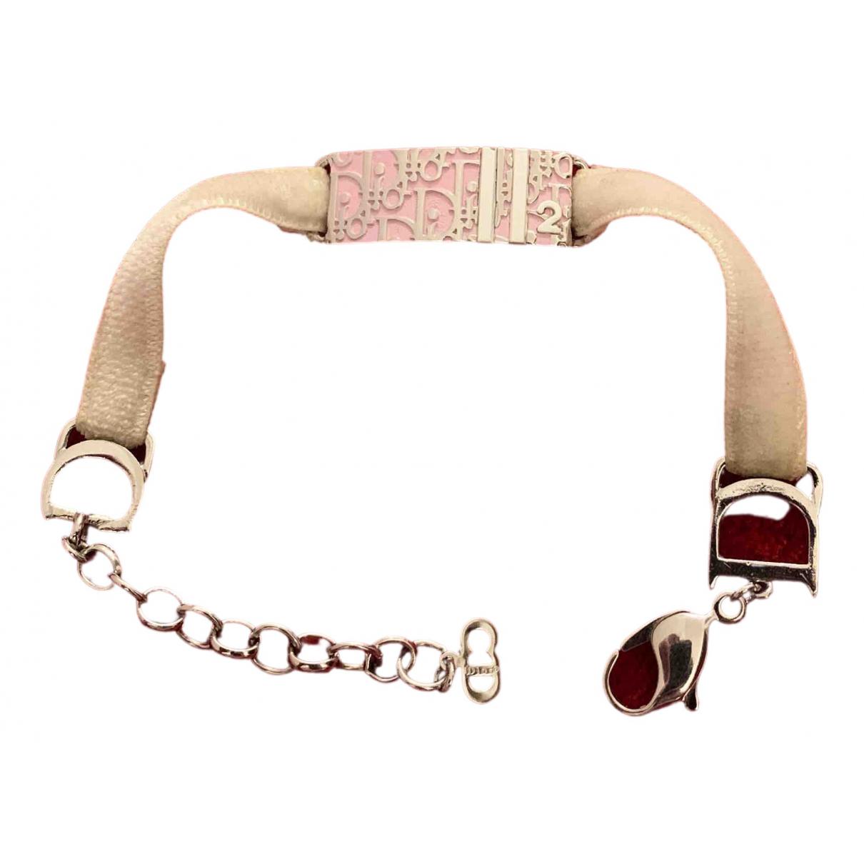 Dior Dior Oblique Armband in  Rosa Metall