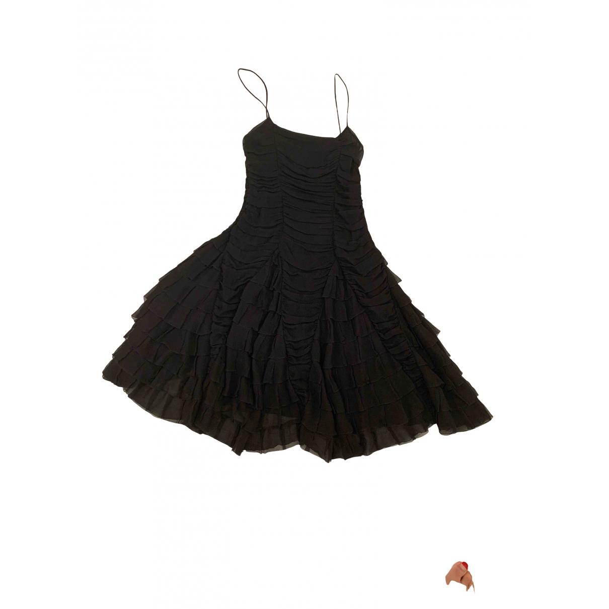Non Signé / Unsigned \N Black Silk dress for Women 36 IT