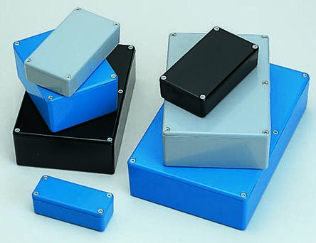 RS PRO Grey Die Cast Aluminium Enclosure, IP66, Shielded, 89.1 x 35 x 30.3mm