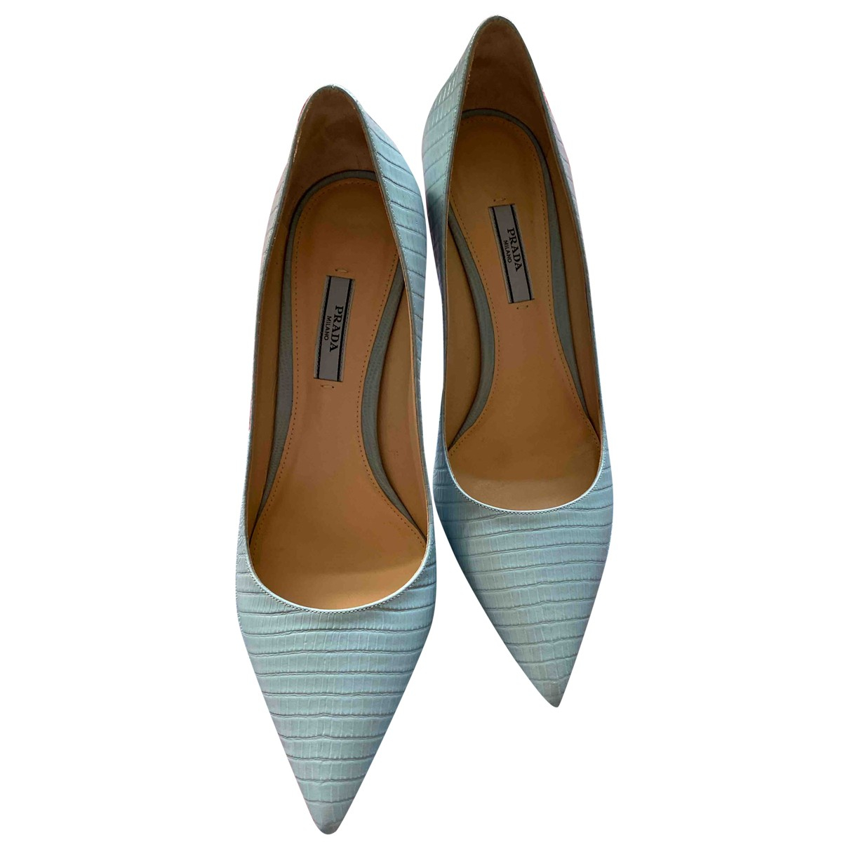 Prada \N Pumps in  Blau Leder