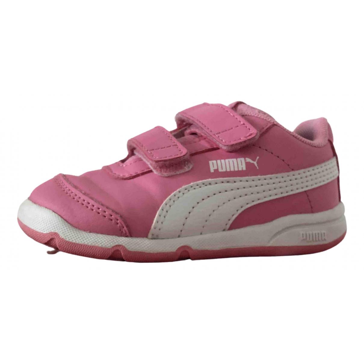Puma - Baskets   pour enfant en cuir - rose