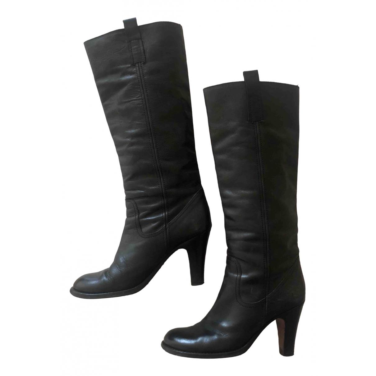 Garrice - Bottes   pour femme en cuir - noir