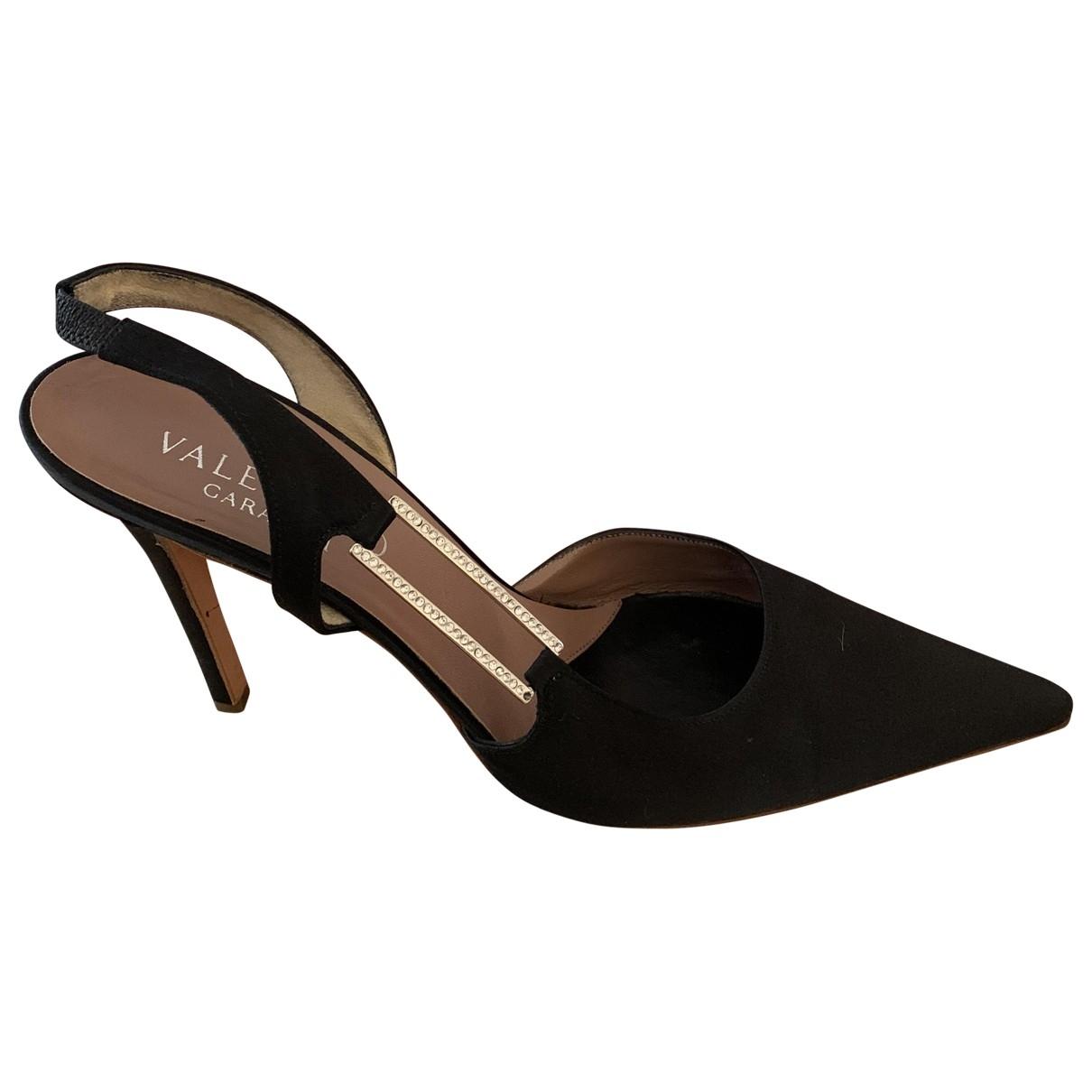 Valentino Garavani - Escarpins   pour femme en cuir - noir