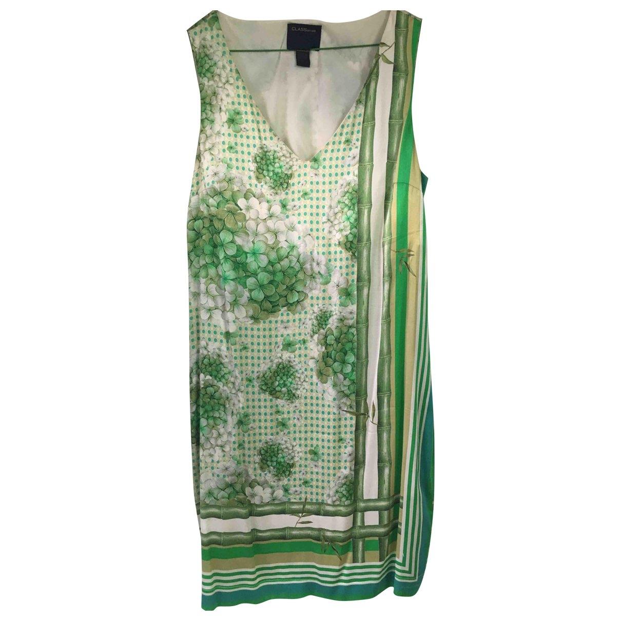 Class Cavalli \N Green Silk dress for Women 46 IT