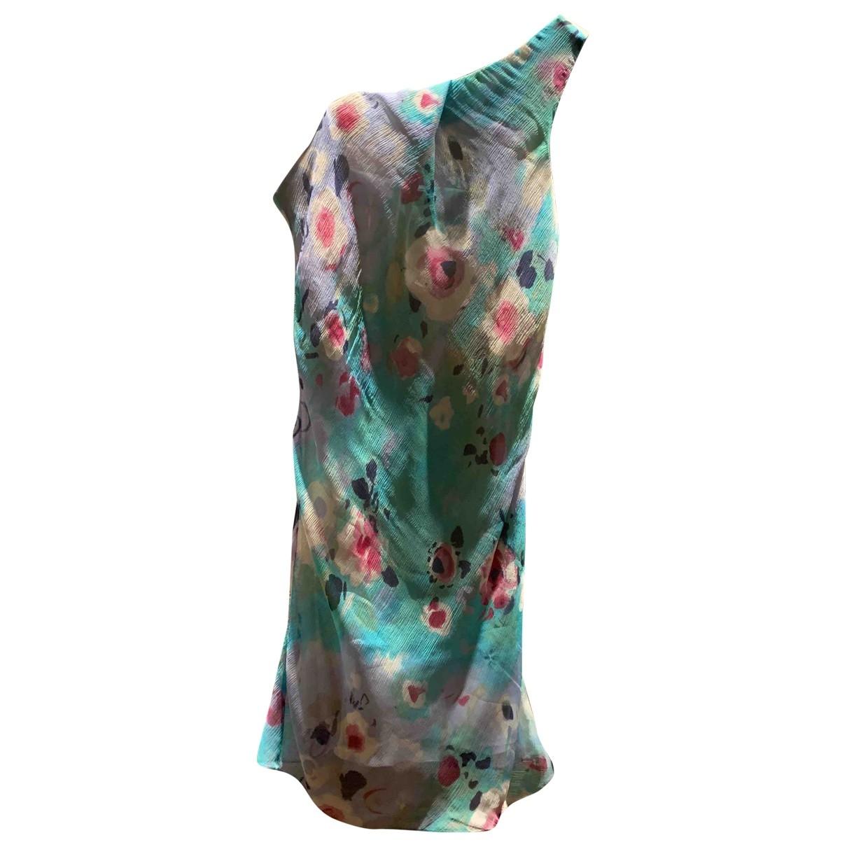 Emporio Armani \N Turquoise Silk dress for Women 40 IT