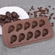 1pc Skull Shaped Chocolate Mold