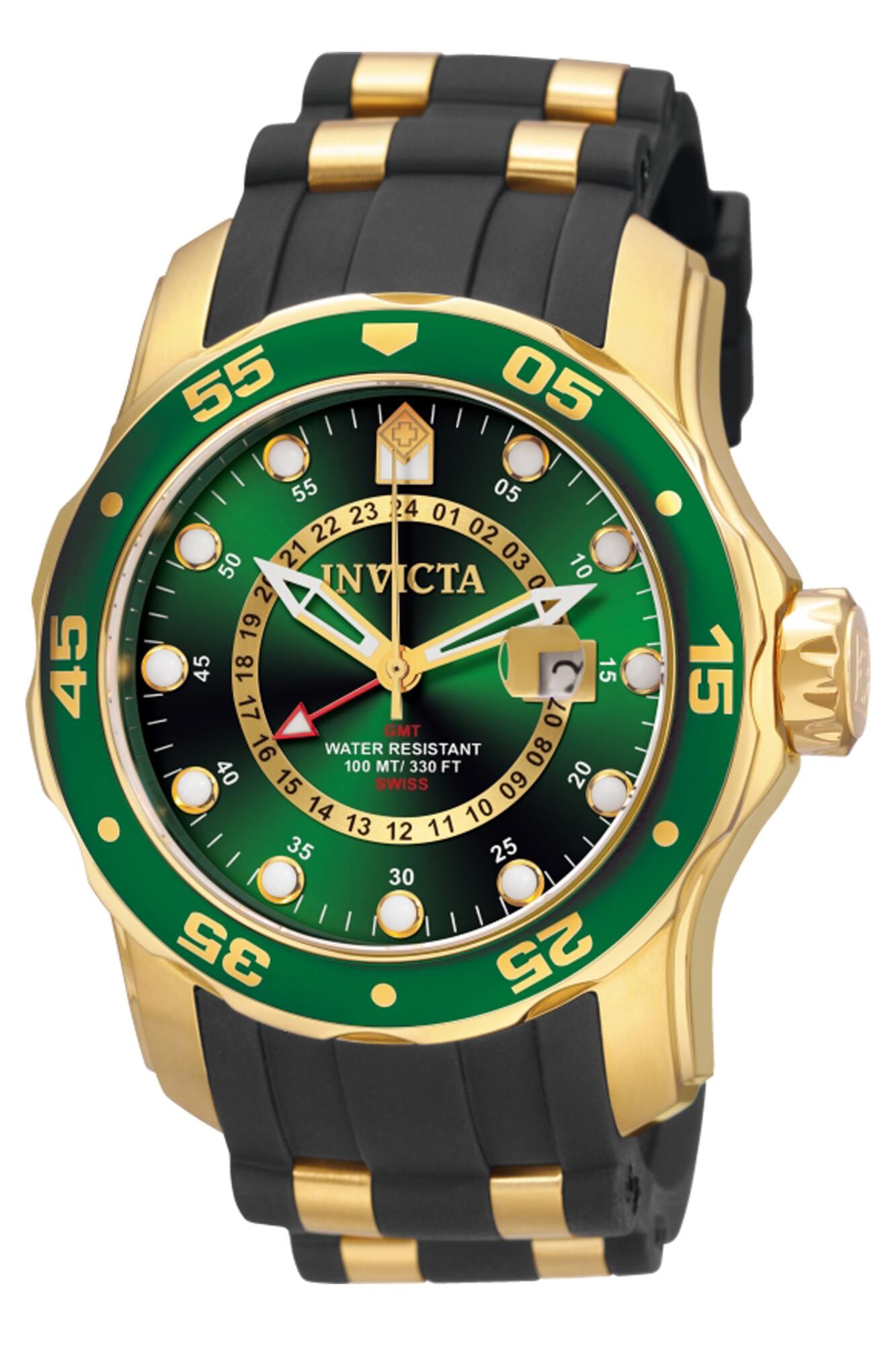 Invicta Men's Pro Diver 6994 Gold Rubber Quartz Dress Watch