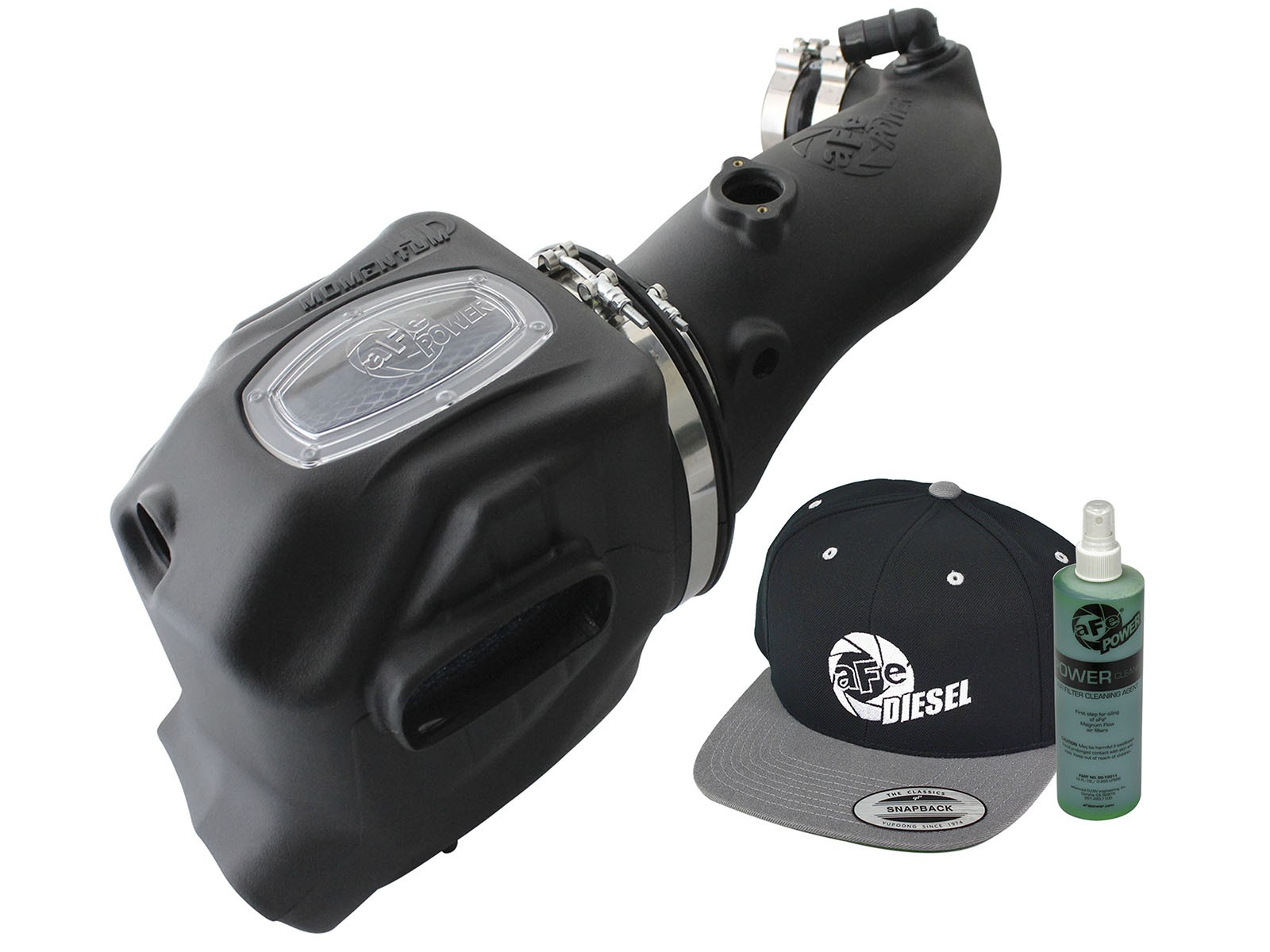 aFe POWER Diesel Elite Momentum HD Pro DRY S Cold Air Intake System Ford F-250/F-350/F-450/F-550 V8 6.4L (td) 08-10