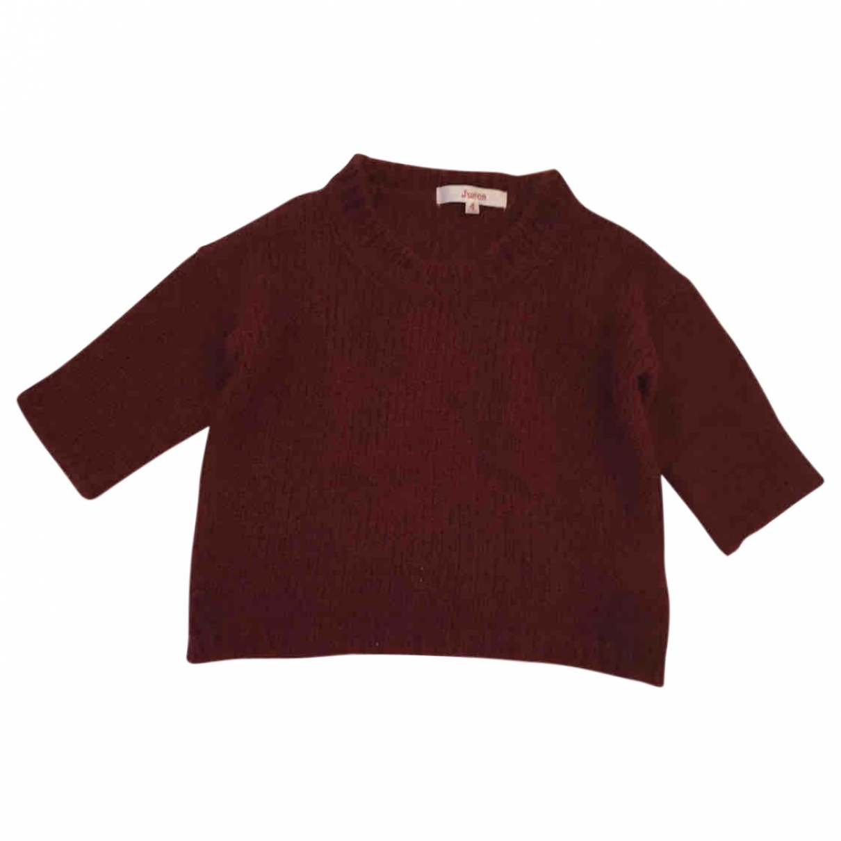 Jucca \N Pullover, StrickJacke in  Bordeauxrot Wolle