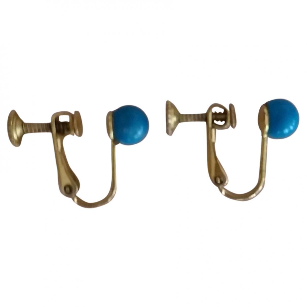 - Boucles doreilles Turquoises pour femme en metal - bleu