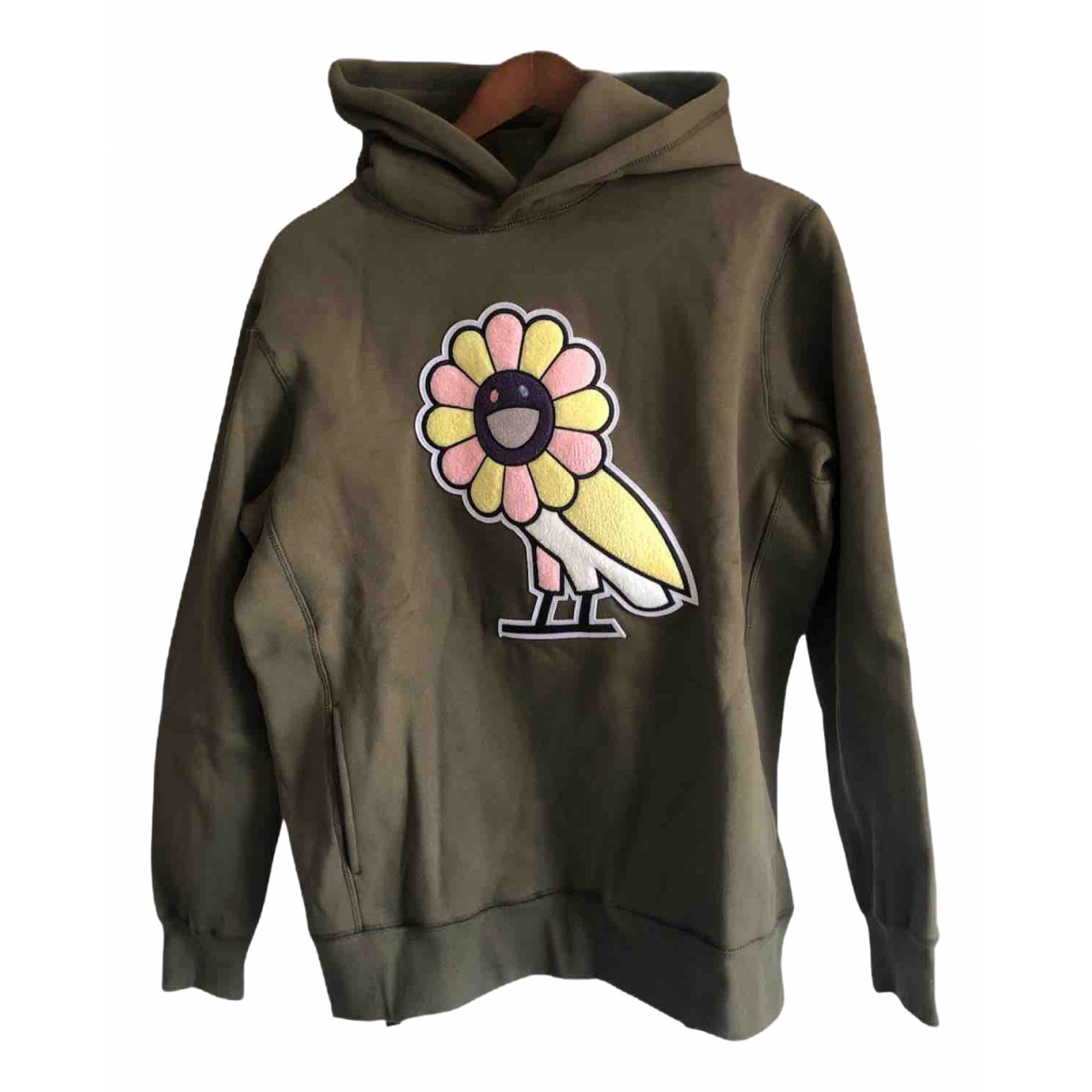 Takashi Murakami \N Pullover.Westen.Sweatshirts  in  Khaki Baumwolle