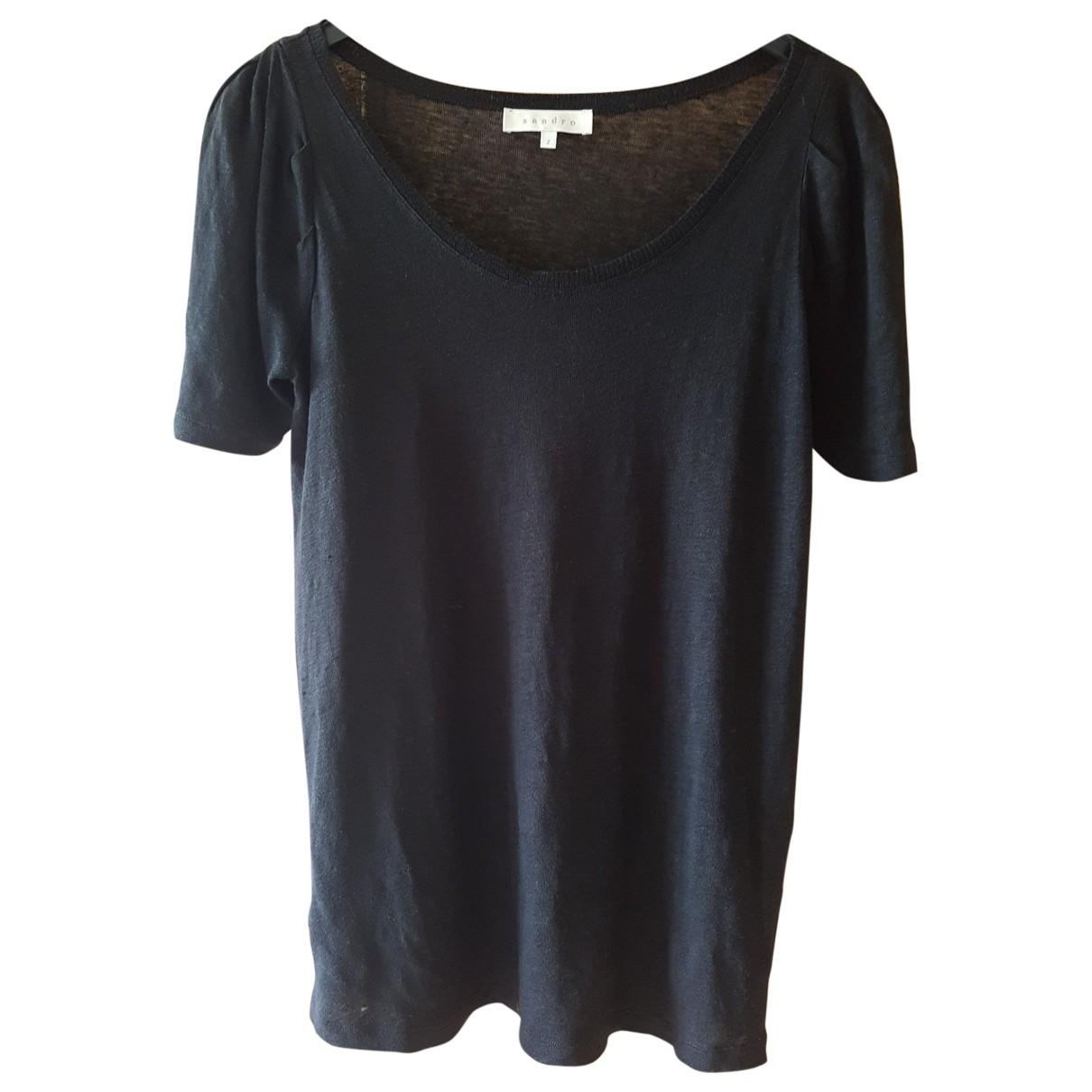Sandro \N Black Linen  top for Women 38 FR