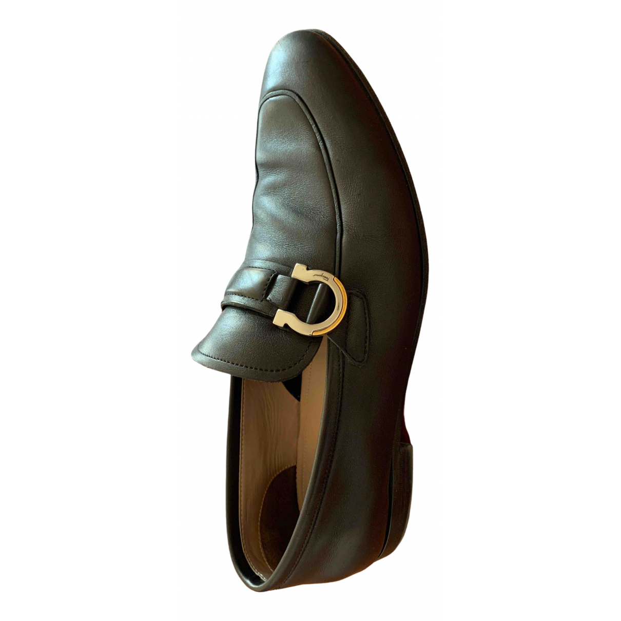 Salvatore Ferragamo \N Black Leather Flats for Men 8 US