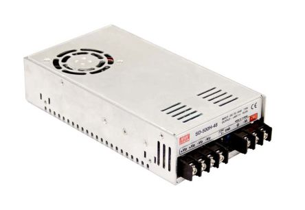 Mean Well 500W Isolated DC-DC Converter Chassis Mount, Voltage in 72 → 144 V dc, Voltage out 12V dc