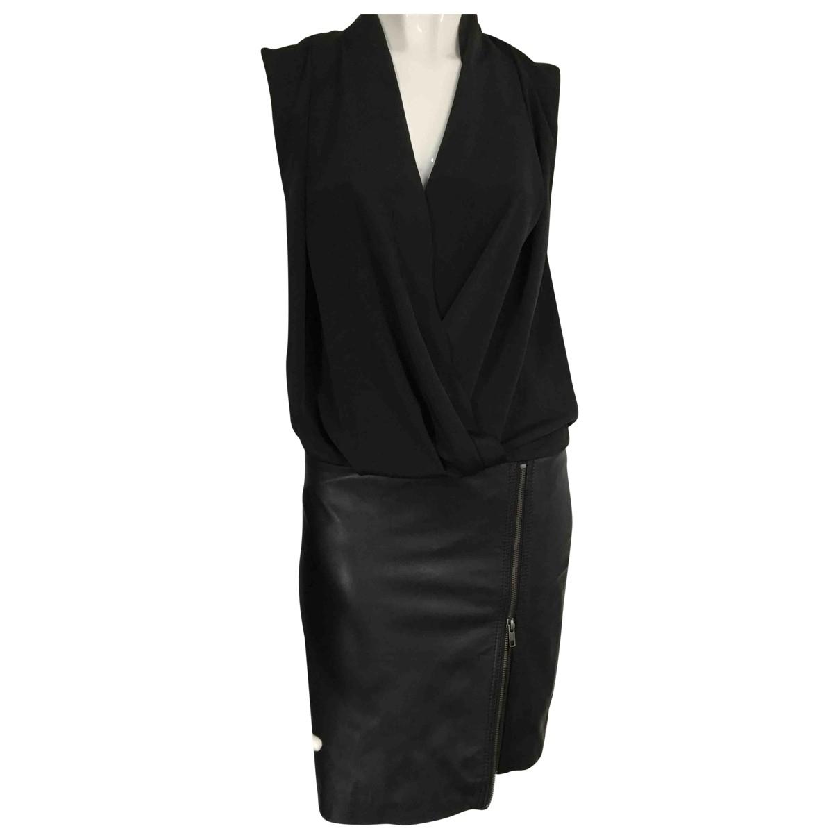 Gestuz - Robe   pour femme en cuir - noir