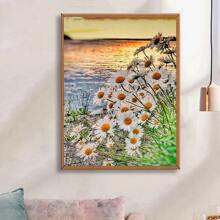 Daisy Print Diamond Painting Without Frame