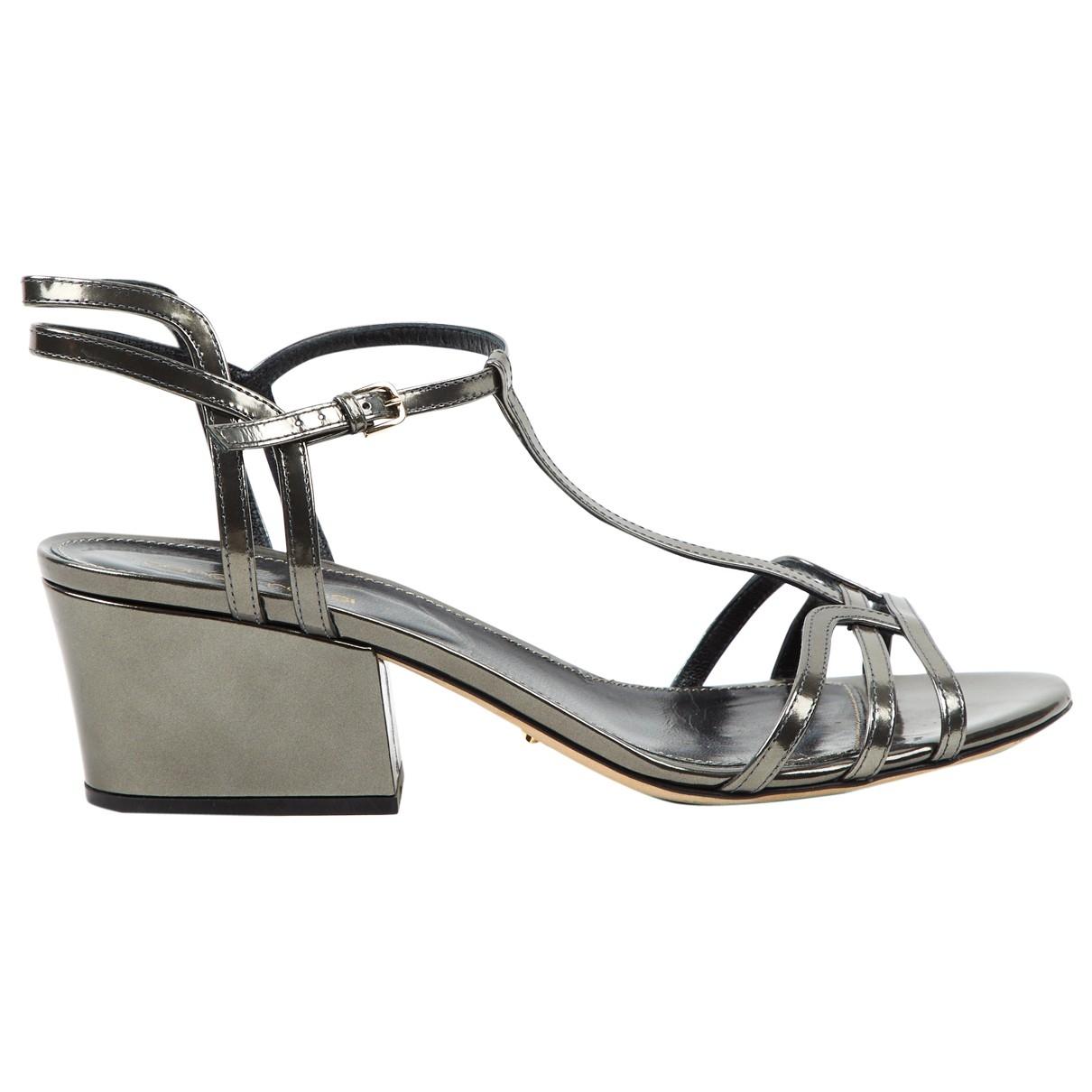 Sergio Rossi - Sandales   pour femme en cuir - gris