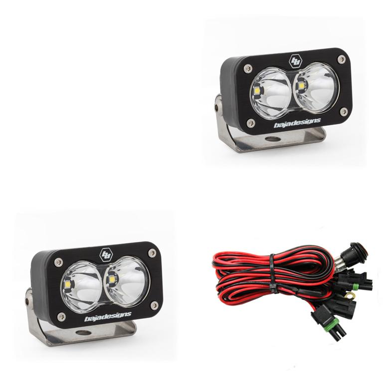 Baja Designs 547801 LED Work Light Clear Lens Spot Pattern Pair S2 Sport