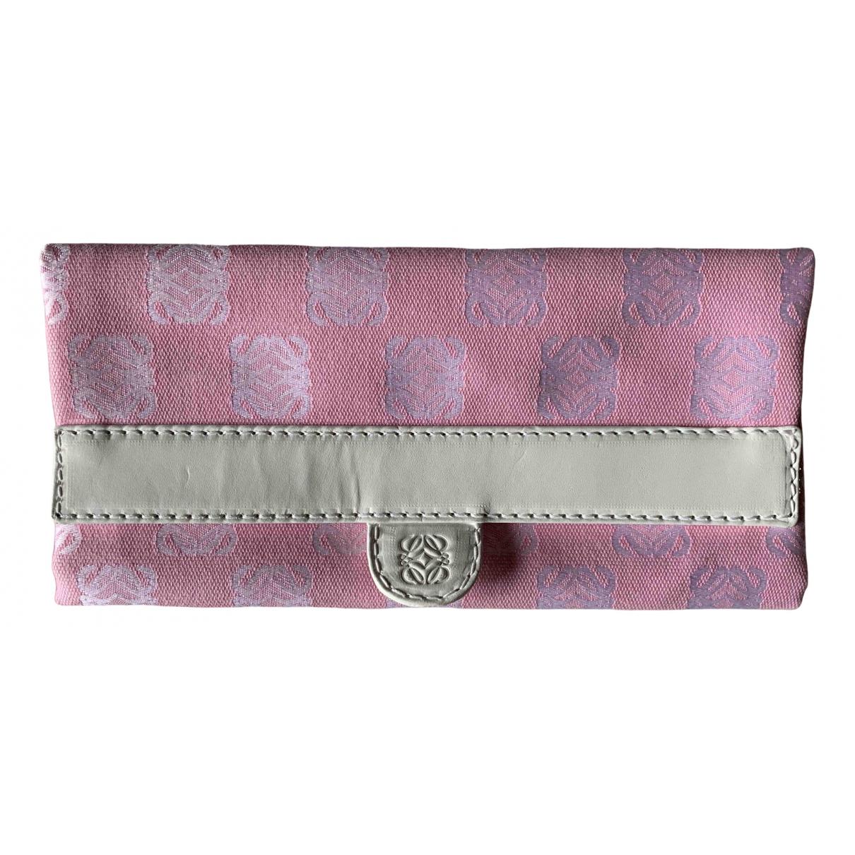 Loewe - Petite maroquinerie   pour femme en toile - rose