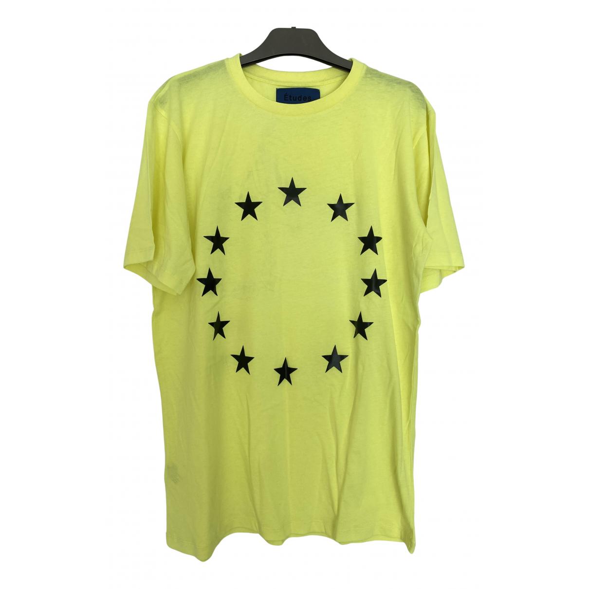 Etudes Studio - Tee shirts   pour homme en coton - jaune