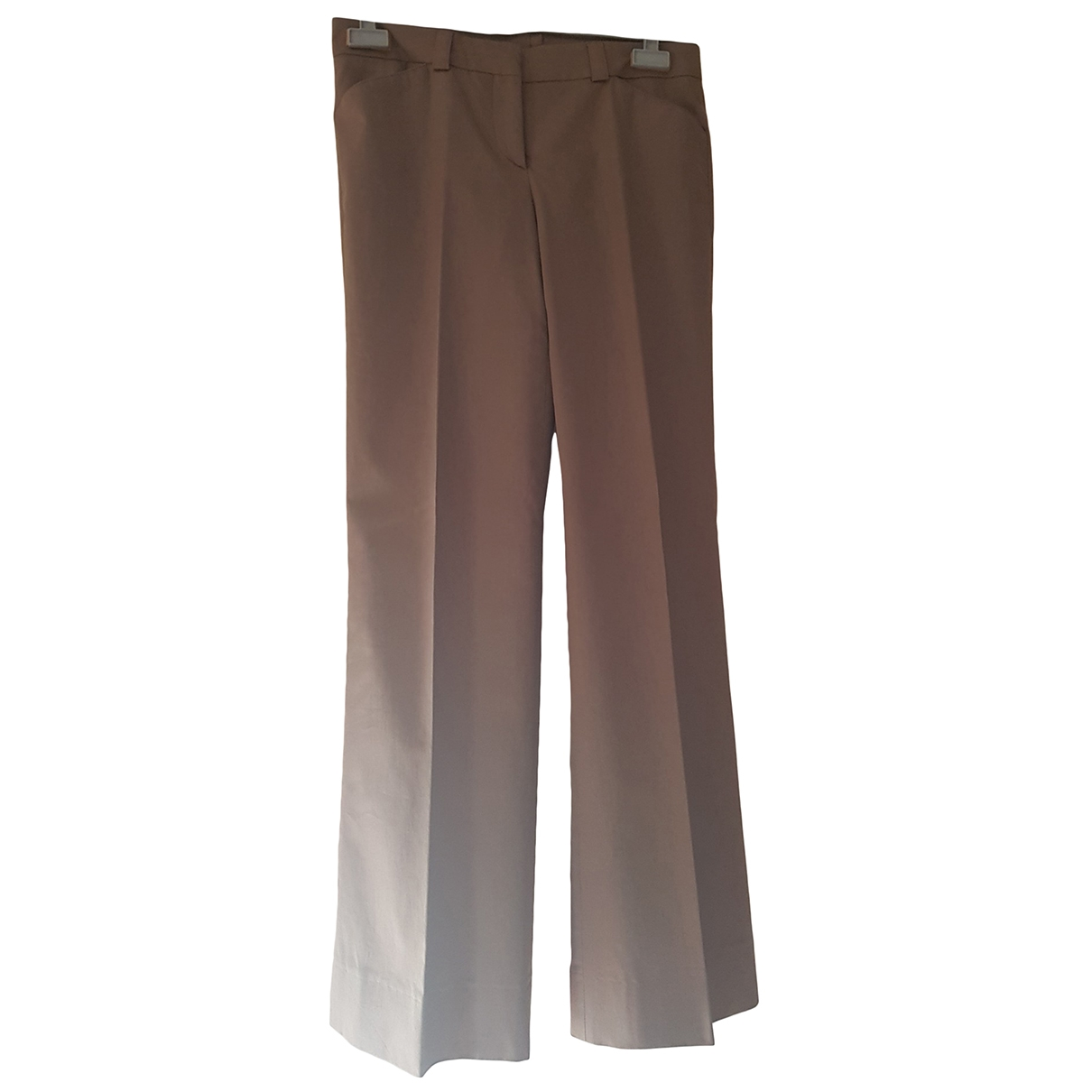 Burberry \N Green Cotton Trousers for Women 6 UK