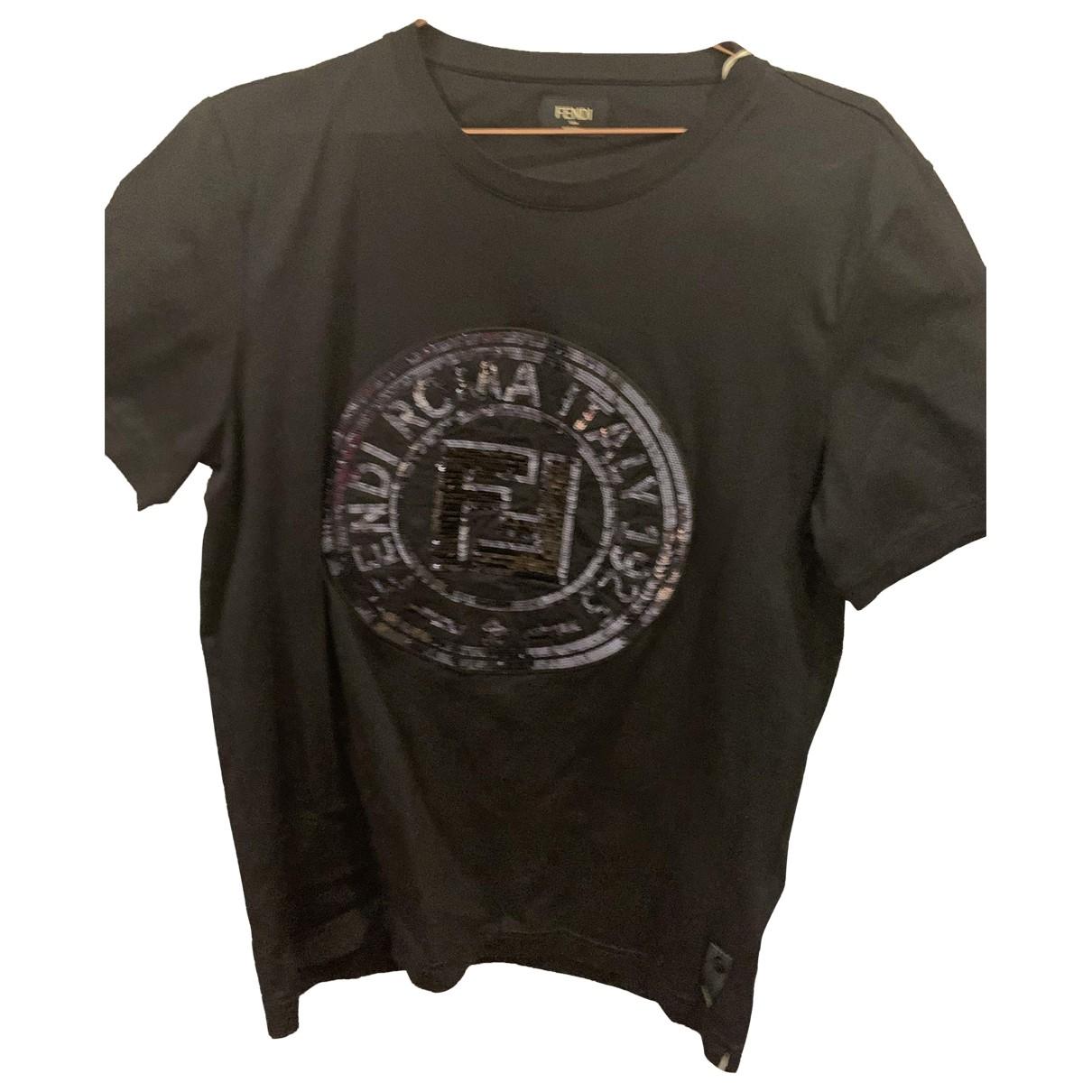 Fendi - Tee shirts   pour homme en coton - noir