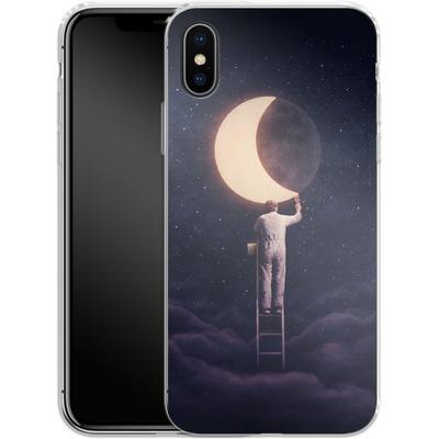 Apple iPhone X Silikon Handyhuelle - Carpe Noctem Wide von Enkel Dika