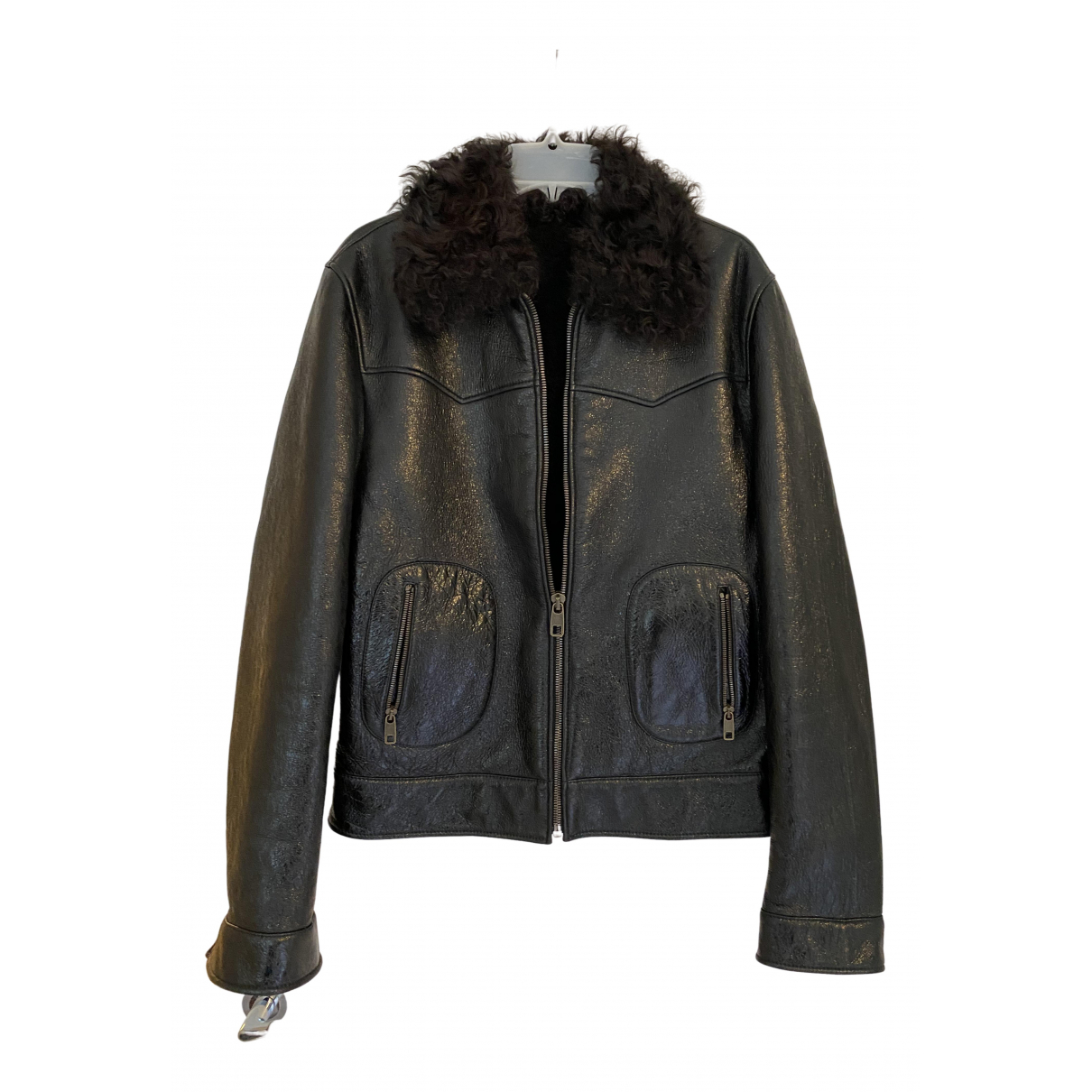 Dolce & Gabbana \N Brown Leather jacket  for Men 48 IT