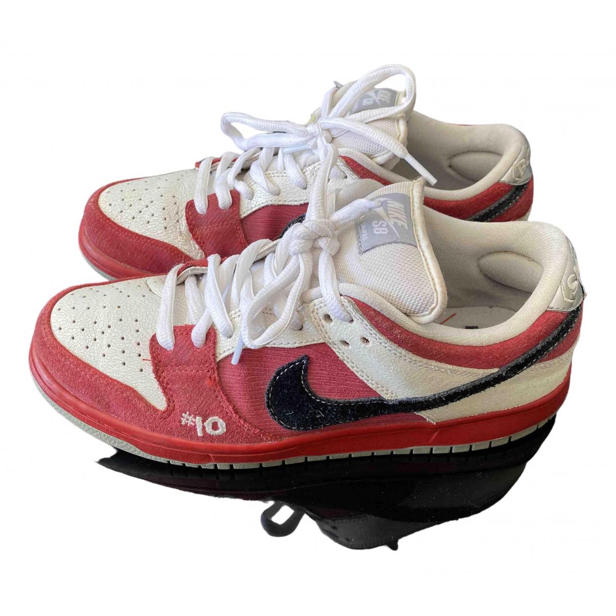 Nike - Baskets SB Dunk  pour homme en suede - rouge