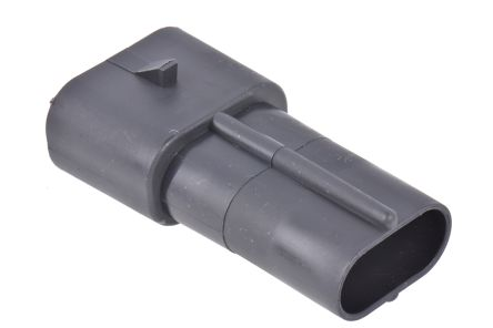 Delphi , Metri-Pack 630 Automotive Connector Plug 2 Way, Crimp Termination, Black (10)