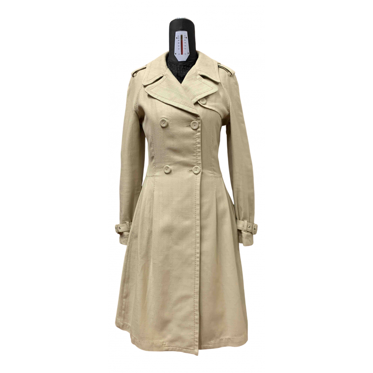 Max & Co \N Beige Cotton Trench coat for Women 44 IT
