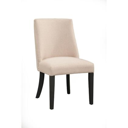 BM171928 Fabric Upholstered Parson Chairs  Set Of 2  Cream And