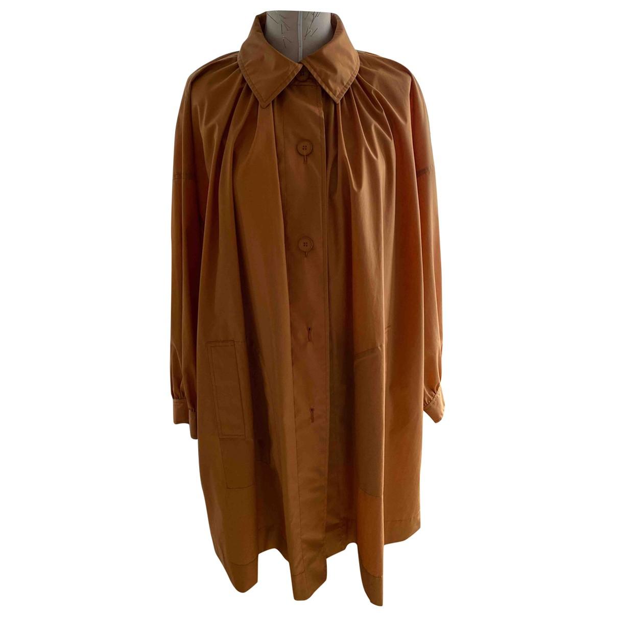 Non Signé / Unsigned Oversize Orange Cotton jacket for Women S International