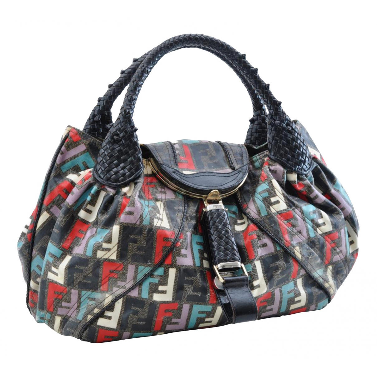 Fendi Spy Multicolour Cloth handbag for Women N