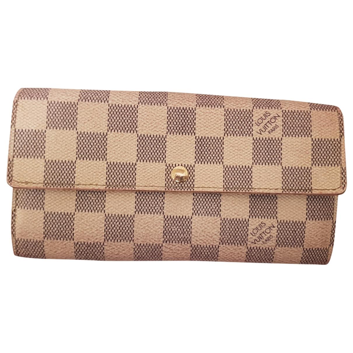 Louis Vuitton Virtuose Portemonnaie in  Grau Leinen