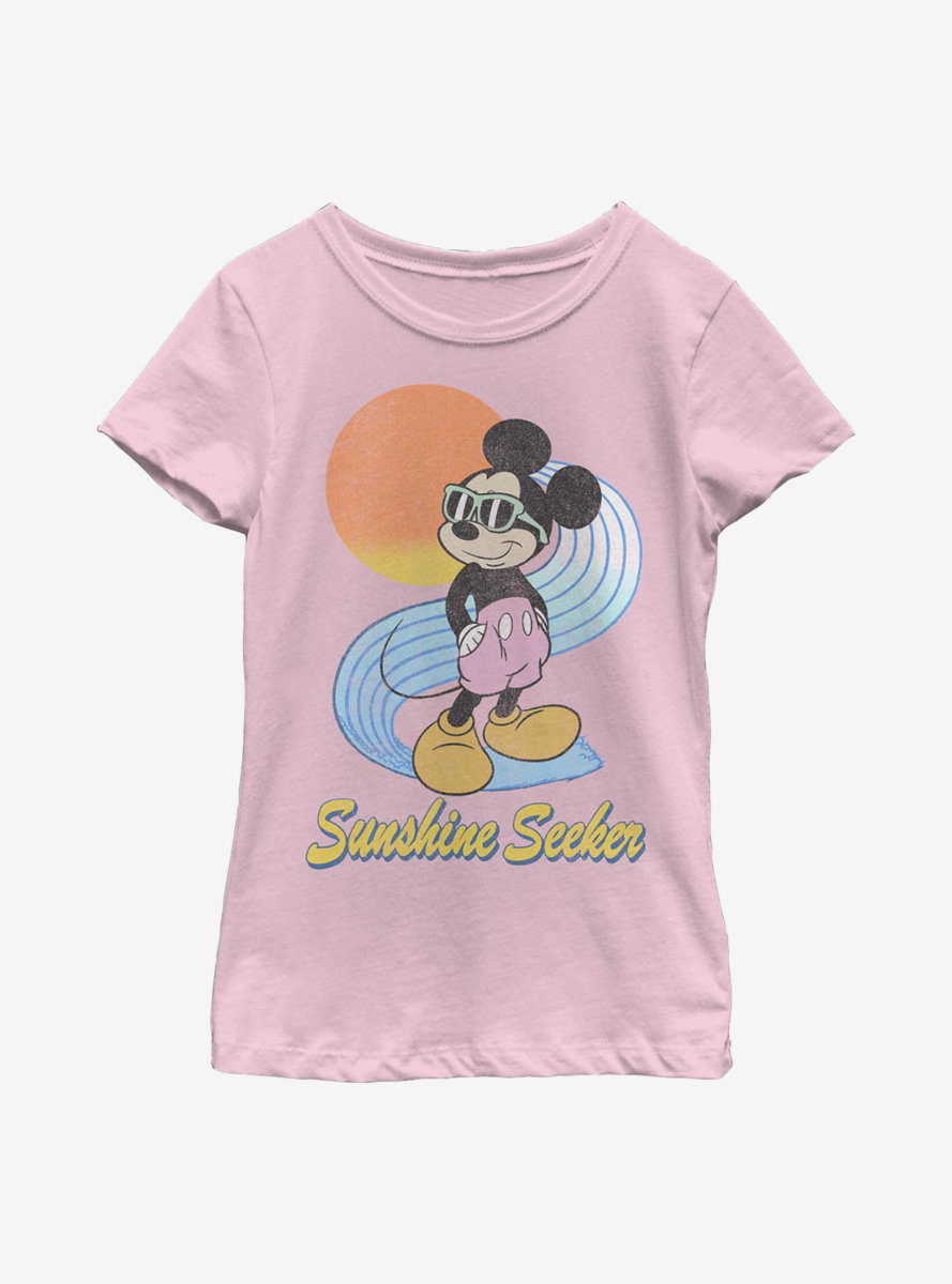 Disney Mickey Mouse Sunshine Seeker Youth Girls T-Shirt