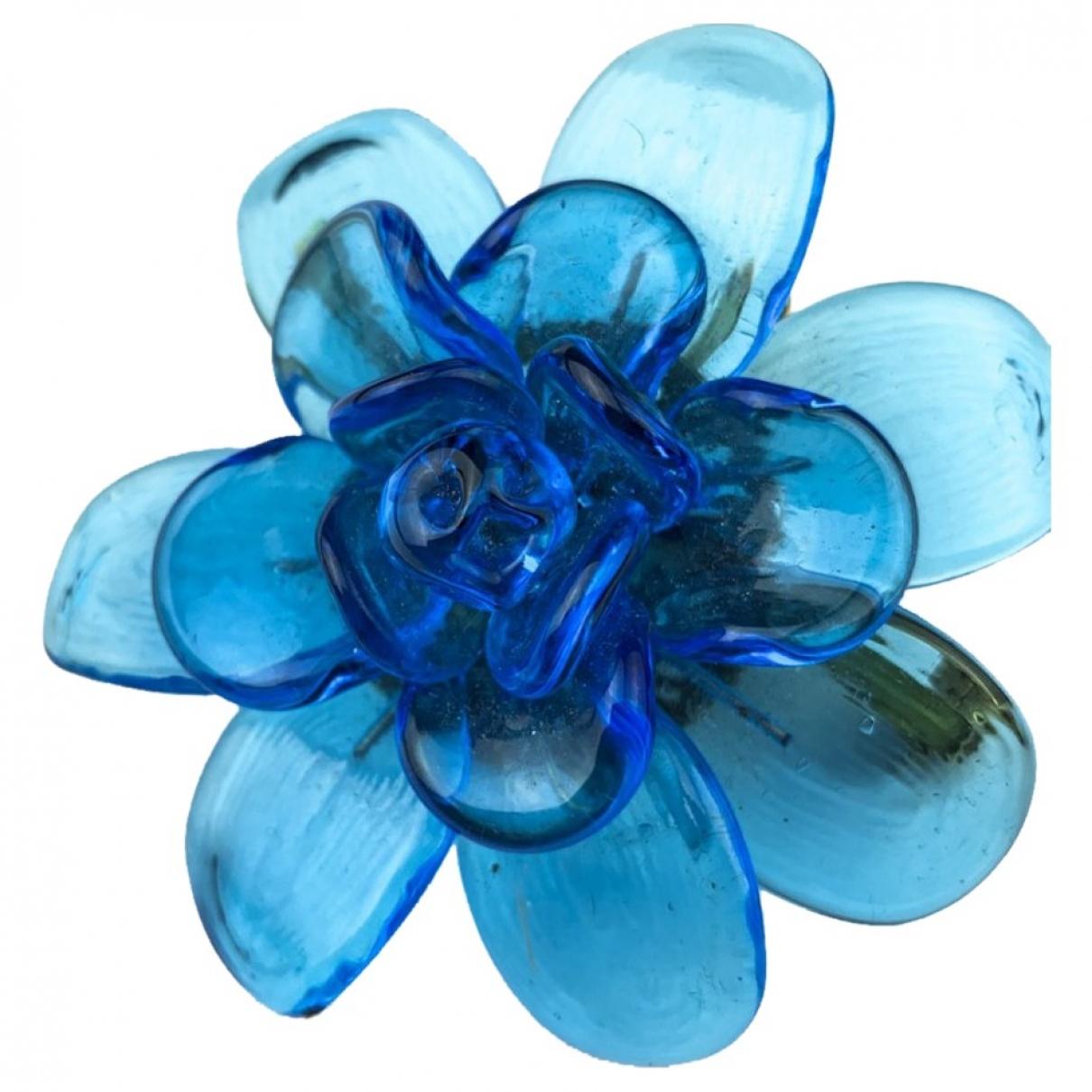 Marguerite De Valois - Broche   pour femme en verre - bleu