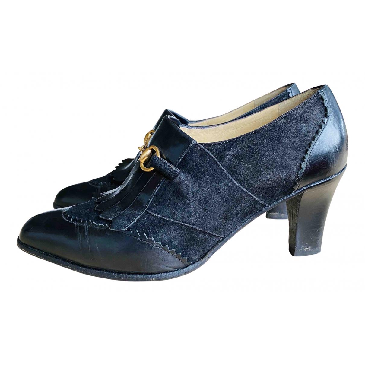 Gucci - Boots   pour femme en suede - noir