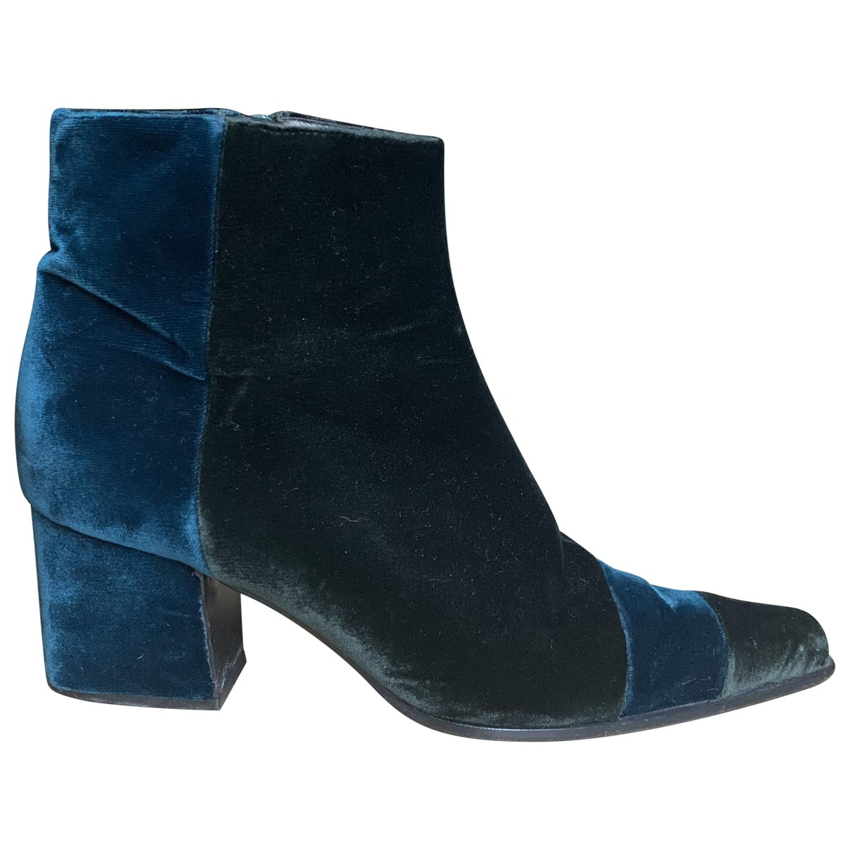 Prada \N Stiefel in  Blau Samt