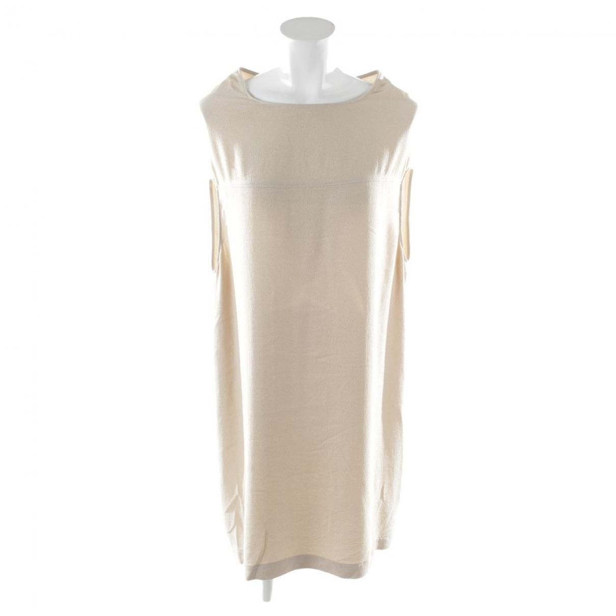 Rick Owens \N Kleid in  Beige Seide