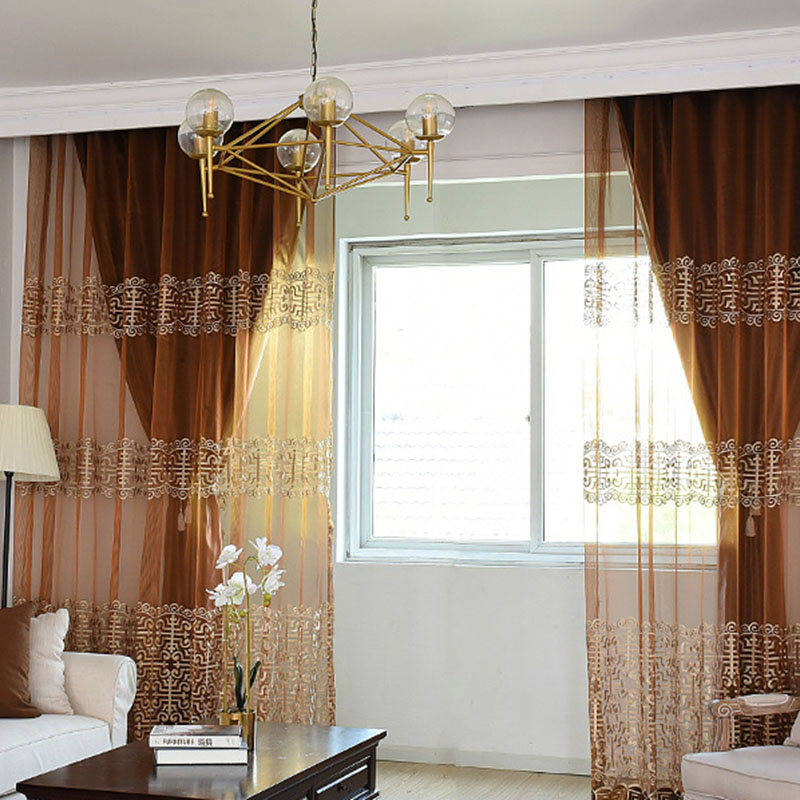 Classic and Luxury Chenille Blackout Decorative Grommet Curtains for Living Room Bedroom 100% Shading Rate and UV Rays No Pilling No Fading No off-lin