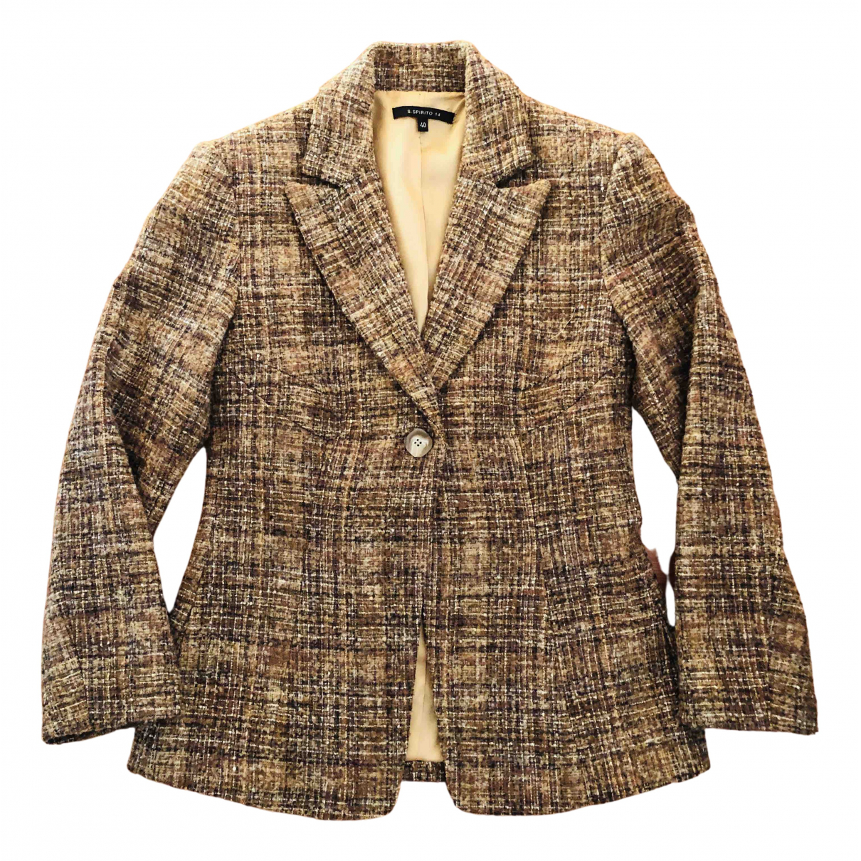 Non Signé / Unsigned N Multicolour Wool jacket for Women 40 IT