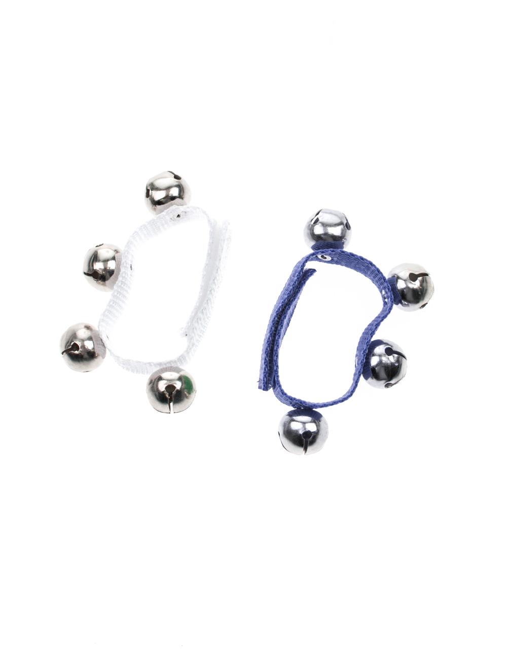 Kostuemzubehor Schellenarmband blau/weiss