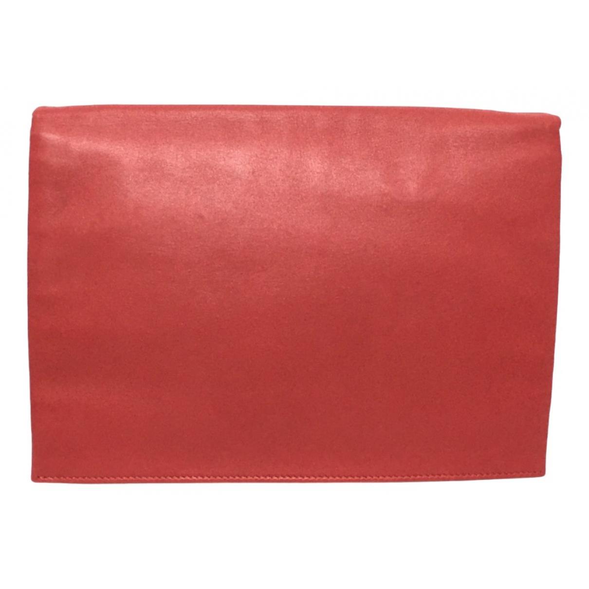 Celine - Pochette   pour femme en cuir - rouge