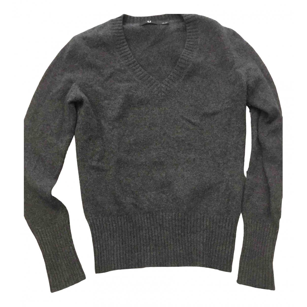 Non Signe / Unsigned \N Pullover in  Grau Kaschmir